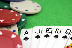 Accented poker background Stock Photos
