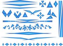 Accenten in blauw royalty-vrije stock afbeeldingen