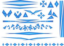 Accents in blue. Triangle based blue accents vector illustration