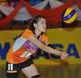 Accept ball from Volleyball chalege in thailand Stock Images