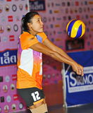Accept ball from Volleyball chalege in thailand Royalty Free Stock Photo