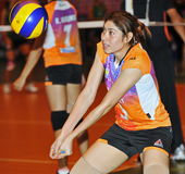Accept ball from Volleyball chalege in thailand Royalty Free Stock Images