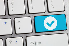 Accept button Royalty Free Stock Photo