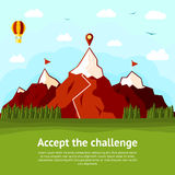 Accept the challenge concept card with high Royalty Free Stock Photography