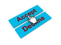 Accept or decline decision graphic Stock Image