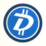 We accept DigiByte. 3D rendered DigiByte logo Stock Image