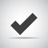 Accept icon with shadow on a gray background. Vector illustration Royalty Free Stock Image