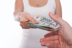 Accept money Royalty Free Stock Images