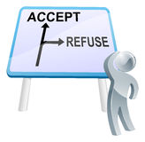 Accept or refuse sign Royalty Free Stock Photos