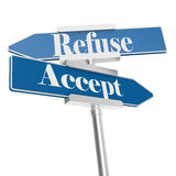 Accept and Refuse signs Royalty Free Stock Photography