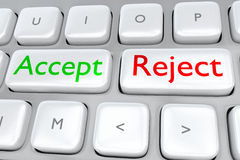 Accept/Reject concept Royalty Free Stock Image