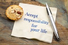 Accept responsibility for your life Stock Photos