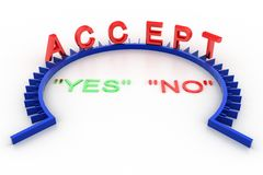 Accept Yes / No icon on a white background Stock Photography