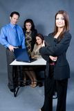 Acceptance. Associates working together accepting a project royalty free stock photos