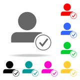 Acceptance of an employee into a team icon. Elements of teamwork multi colored icons. Premium quality graphic design icon. Simple. Icon for websites, web design Royalty Free Stock Photos