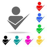 Acceptance of an employee into a team icon. Elements of teamwork multi colored icons. Premium quality graphic design icon. Simple. Icon for websites, web design Royalty Free Stock Photography