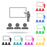 Acceptance of an employee into a team icon. Elements of teamwork multi colored icons. Premium quality graphic design icon. Simple. Icon for websites, web design Stock Photography