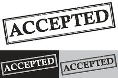 Accepted - black color grunge stamp Royalty Free Stock Photography