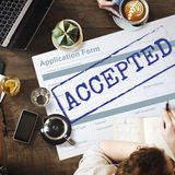 Accepted Challenge Change Choice Confident Concept Stock Image