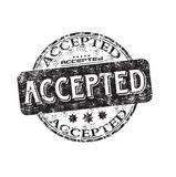 Accepted grunge rubber stamp Stock Photography