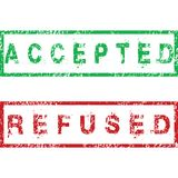 Accepted and Refused stamps Royalty Free Stock Image