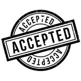 Accepted rubber stamp Royalty Free Stock Photos