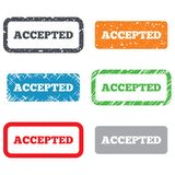 Accepted sign icon. Approved symbol Stock Images