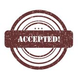 Accepted stamp Royalty Free Stock Photography