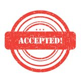 Accepted stamp Stock Photography