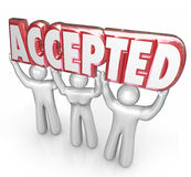 Accepted Word Lifted People Approval Positive Response Feedback Stock Images