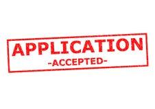 accepterad applikation royaltyfria foton