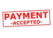 accepterad betalning arkivbild