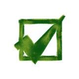 accepterat ekologiskt symbol Arkivbild