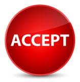 Acceptez le bouton rond rouge élégant Images stock