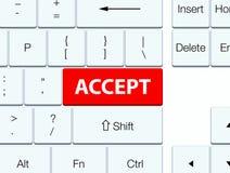Acceptez le bouton rouge de clavier Illustration de Vecteur