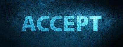 Acceptez le fond bleu spécial de bannière Illustration Libre de Droits