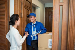 Accepting delivery Stock Photos