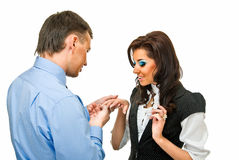 Accepting a proposal of marriage Stock Photography