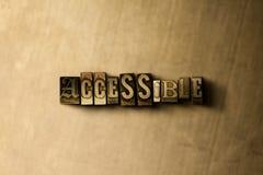 ACCESIBLE - el primer del vintage sucio compuso tipo de palabra en el contexto del metal libre illustration