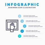 Acceso, contenido, libre, Internet, línea abierta icono con el fondo del infographics de la presentación de 5 pasos libre illustration