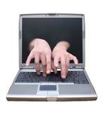 Acceso de escritorio alejado, teleconmutación, ayuda de la tecnología Foto de archivo libre de regalías