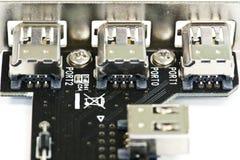 Acceso de la conexión del firewire Fotos de archivo libres de regalías