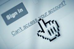 Acceso de la cuenta negado Fotografía de archivo