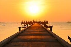 Acceso de la puesta del sol Foto de archivo libre de regalías