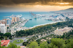 Acceso de Málaga, España Foto de archivo