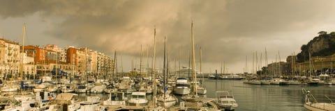 Acceso de Niza después de la tormenta imagen de archivo