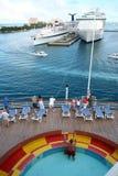 Acceso del barco de cruceros Imágenes de archivo libres de regalías