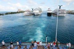 Acceso del barco de cruceros Fotos de archivo libres de regalías
