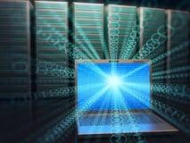 Acceso del centro de datos Foto de archivo libre de regalías