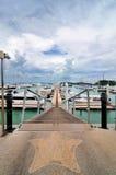 Acceso del puerto deportivo Imagen de archivo libre de regalías